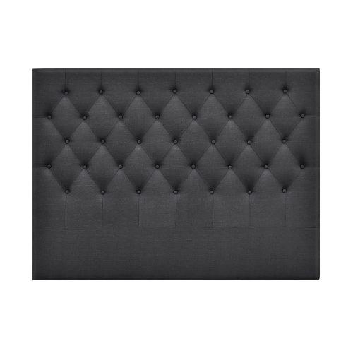 BFRAME E HEAD Q CHAR 02 500x500 - Arthur Upholstered Headboard Charcoal-Double