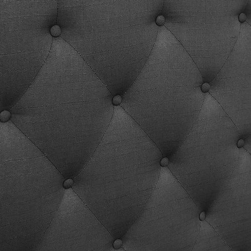 BFRAME E HEAD Q CHAR 06 500x500 - Arthur Upholstered Headboard Charcoal-Double