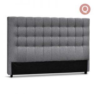 BFRAME E RAFT Q LI GY 00 300x300 - Dennis Upholstered Fabric Headboard Grey-Queen Size