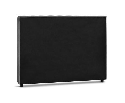 BFRAME E RAFT Q LI GY 04 - Dennis Upholstered Fabric Headboard Grey-Queen Size
