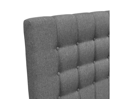 BFRAME E RAFT Q LI GY 05 - Dennis Upholstered Fabric Headboard Grey-Queen Size