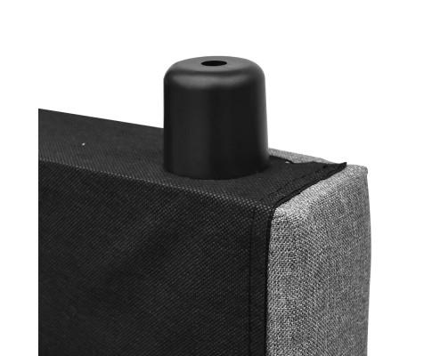 BFRAME E RAFT Q LI GY 07 - Dennis Upholstered Fabric Headboard Grey-Queen Size