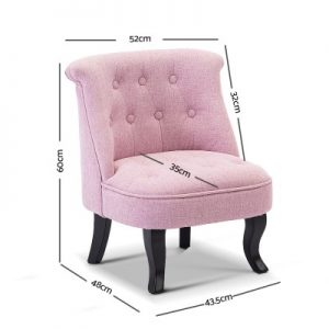 FA CHAIR KID02 PK 01 300x300 - Lina Upholstered Kids Chair - Pink