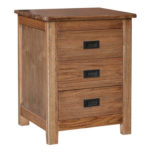 Finley Bedside 500x500 - Serra 3 Drawer Bedside Table