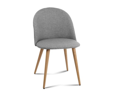 MO DIN 02 LI GYX2 00 - Georgia Fabric Dining Chair - Light Grey
