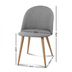 MO DIN 02 LI GYX2 01 300x300 - Georgia Fabric Dining Chair - Light Grey