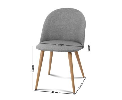 MO DIN 02 LI GYX2 01 - Georgia Fabric Dining Chair - Light Grey