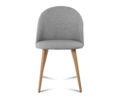 MO DIN 02 LI GYX2 02 - Georgia Fabric Dining Chair - Light Grey