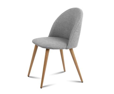 MO DIN 02 LI GYX2 03 - Georgia Fabric Dining Chair - Light Grey