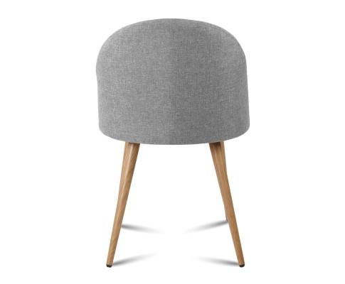 MO DIN 02 LI GYX2 04 - Georgia Fabric Dining Chair - Light Grey