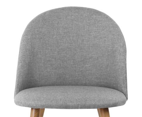 MO DIN 02 LI GYX2 06 - Georgia Fabric Dining Chair - Light Grey