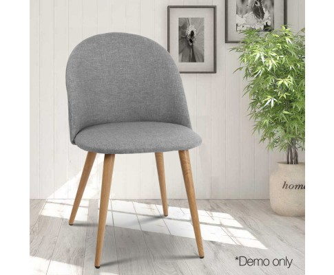 MO DIN 02 LI GYX2 07 - Georgia Fabric Dining Chair - Light Grey