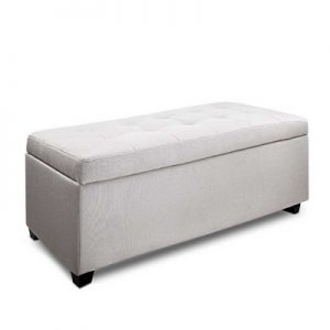 OTM L2 LINEN BEIGE 00 300x300 - Courtney Fabric Storage Ottoman - Beige