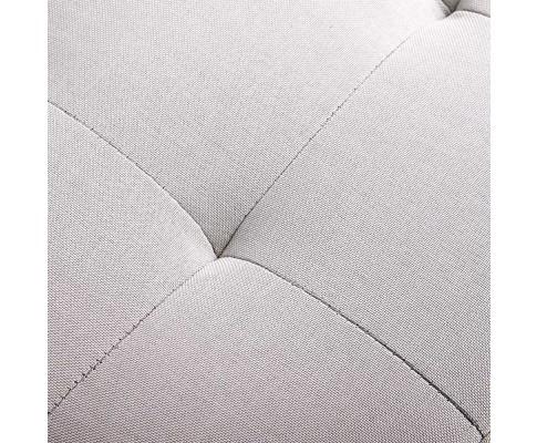 OTM L2 LINEN BEIGE 07 - Courtney Fabric Storage Ottoman - Beige