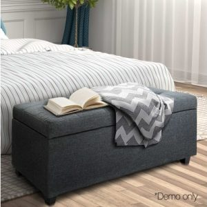 OTM L2 LINEN BLACK 10 300x300 - Courtney Fabric Storage Ottoman - Black