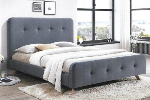 bondi 500x333 - Bondi Mid Grey Upholstered Bed - King Single