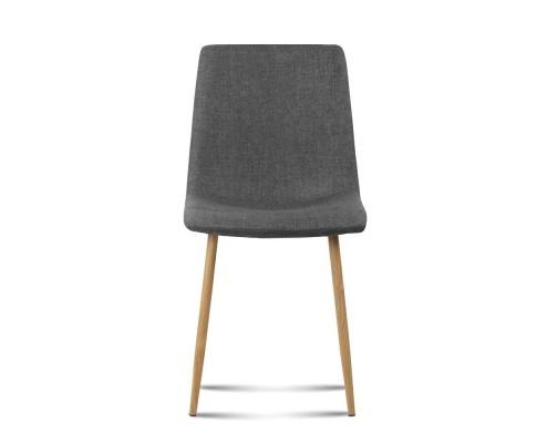 collins10 - Collins Fabric Dining Chair - Dark Grey