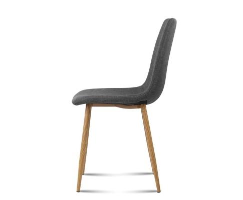collins11 - Collins Fabric Dining Chair - Dark Grey
