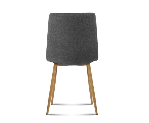 collins12 - Collins Fabric Dining Chair - Dark Grey