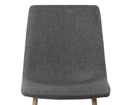 collins13 - Collins Fabric Dining Chair - Dark Grey