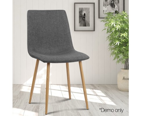 collins15 - Collins Fabric Dining Chair - Dark Grey