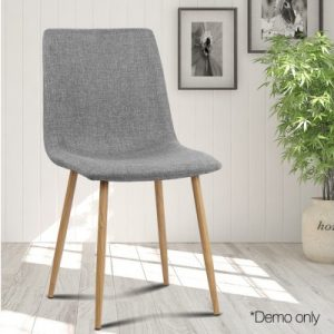 collins7 300x300 - Collins Fabric Dining Chair - Light Grey