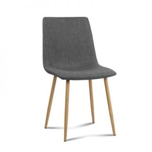 collins8 300x300 - Collins Fabric Dining Chair - Dark Grey