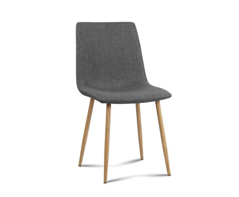 collins8 - Collins Fabric Dining Chair - Dark Grey