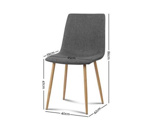collins9 - Collins Fabric Dining Chair - Dark Grey