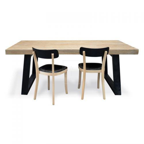 dsc 6342 2 500x500 - Cameron Reclaimed Elm Wood 2400 Dining Table
