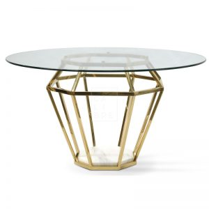 dt1033 bs karma golden frame dining table 1  300x300 - Ariana Marble Base 1400 Dining Table
