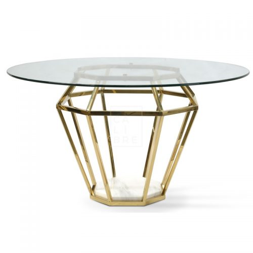 dt1033 bs karma golden frame dining table 1  500x500 - Ariana Marble Base 1400 Dining Table