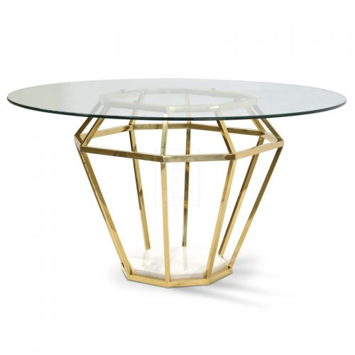 dt1033 bs karma golden frame dining table 2  500x500 - Ariana Marble Base 1400 Dining Table