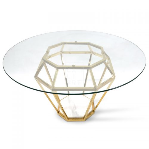 dt1033 bs karma golden frame dining table 5  500x500 - Ariana Marble Base 1400 Dining Table