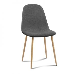 lys 300x300 - Ilyssa Fabric Dining Chair - Dark Grey