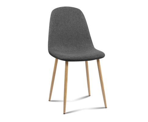 lys - Ilyssa Fabric Dining Chair - Dark Grey