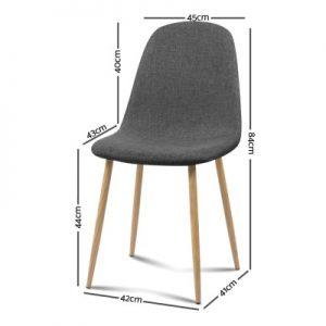 lyss 300x300 - Ilyssa Fabric Dining Chair - Dark Grey