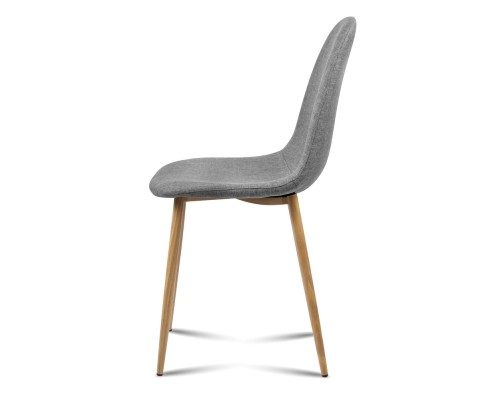 lyss10 - Ilyssa Fabric Dining Chair - Light Grey