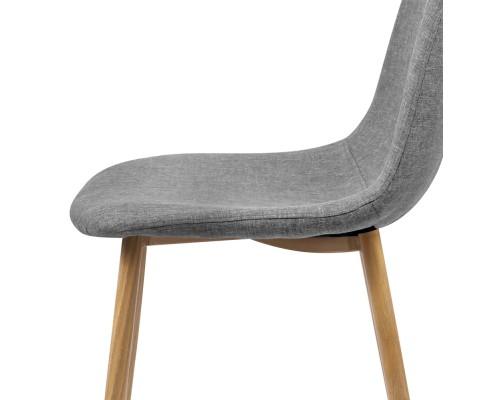 lyss12 - Ilyssa Fabric Dining Chair - Light Grey