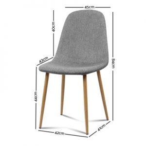 lyss8 300x300 - Ilyssa Fabric Dining Chair - Light Grey