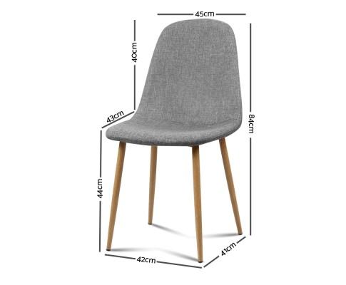 lyss8 - Ilyssa Fabric Dining Chair - Light Grey