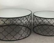 Atlantic 177x142 - Atlantic Set Of 2 Coffee Tables - Black