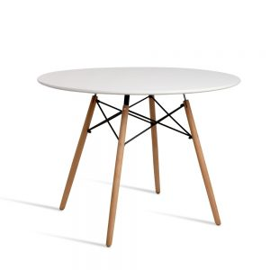 BA BB DSW TAB100 WH 00 300x300 - Eames 1000 Round Dining Table - White