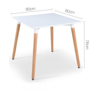 BA BB TAB80 SQUA WH 01 300x300 - Eames 800 Square Dining Table - White