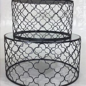 E144471 300x300 - Atlantic Set Of 2 Coffee Tables - Black