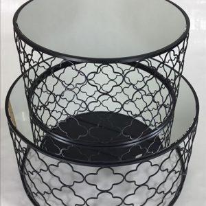 E144471 5 300x300 - Atlantic Set Of 2 Coffee Tables - Black