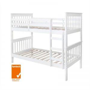Monza King Single White 1 300x300 - Monza Single Bunk Bed - White