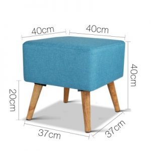 FS LIN 007 BU 01 300x300 - Saidy Fabric Square Foot Stool Blue