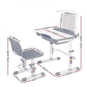 KID DESK 70A GY 01 300x300 - Shani Kids Study Desk & Chair - Grey