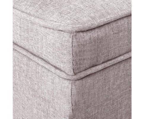 OTM A1 A1009 BG 08 - Vincent Fabric Storage Ottoman - Beige